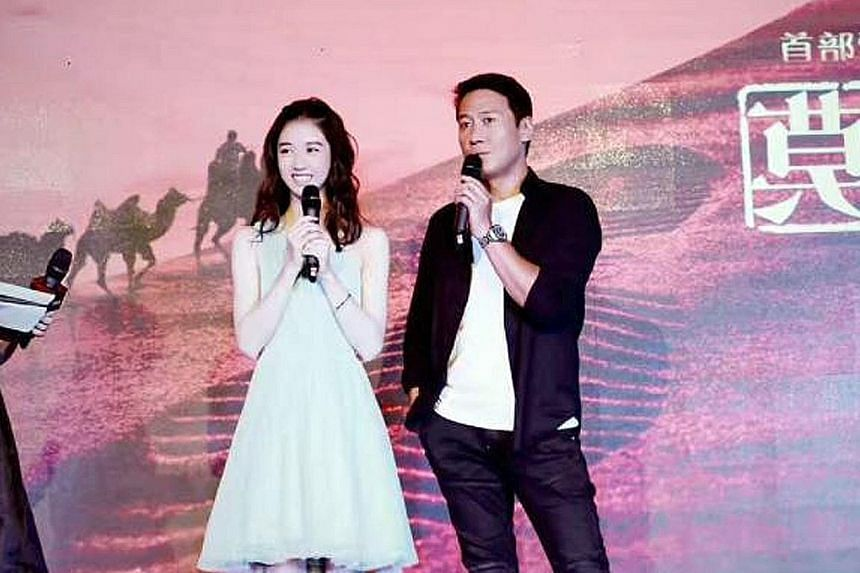 Eleanor Lee, the daughter of TV host Quan Yi Fong, with Hong Kong star Leon Lai.