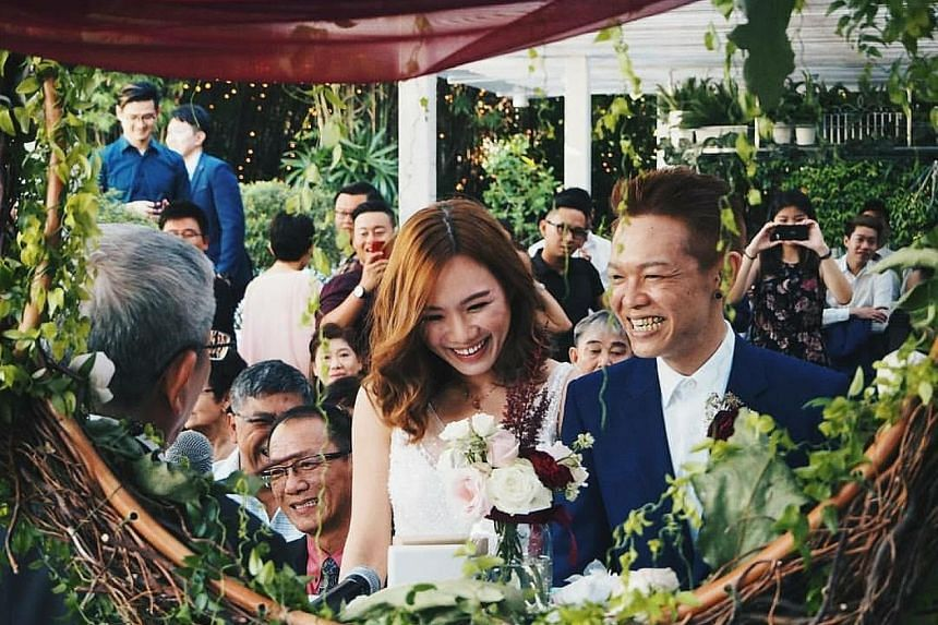 Mr Koh Ming Hao was diagnosed with terminal stomach cancer in June 2013 and was given only a year to live. He started dating Ms Daphnie Chong when they were 15 and they held their wedding on Aug 20 last year.