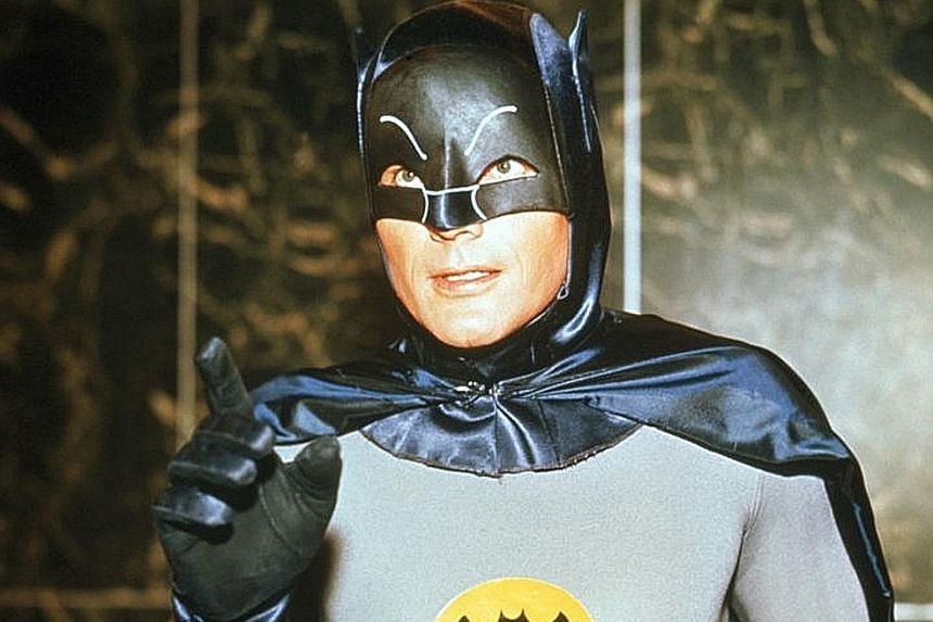 Adam West as the Caped Crusader in Batman: The Movie (1966).