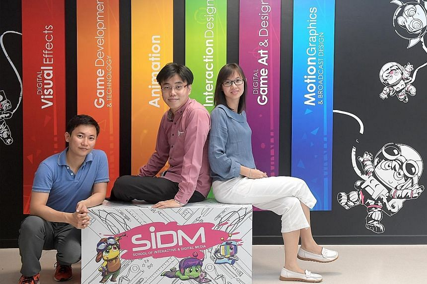 (From left) Mr Keith Tay and Mr Joseph Zen Tay and his wife Valencis Lo. Together, they and third brother Jed and his wife offer internships to NYP students and mentor them. Mr Joseph Tay, who runs Elzeno Advisory with his wife, also goes back to the