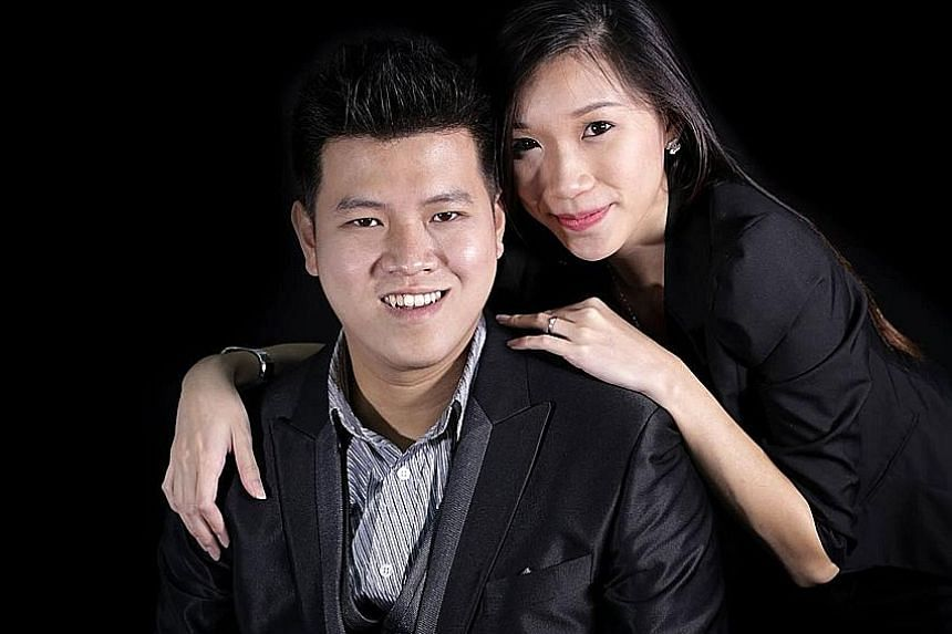 Mr Jed Tay and his wife, Ms Ang Sheng Min. Mr Tay had started Anomalyst Studio as a second-year student at Nanyang Poly.