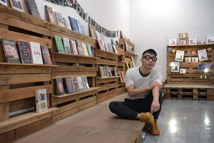 Anthony Koh, owner of indie bookstore Booktique.