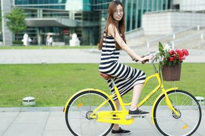 "ofo's ""princess bike"" comes with accessories such as leather seats and retro-looking baskets."