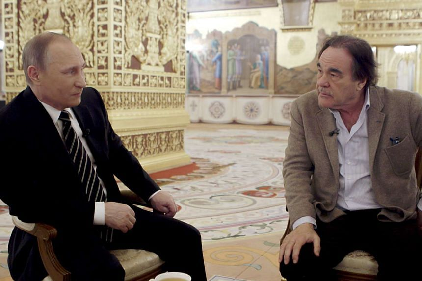 Russian President Vladimir Putin (left) and director Oliver Stone in The Putin Interviews.