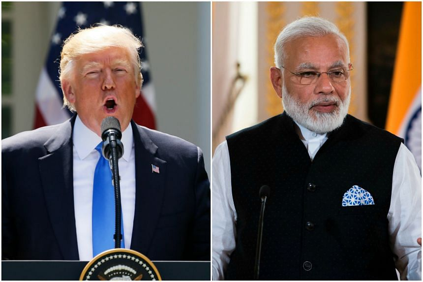 US President Donald Trump and Indian Prime Minister Narendra Modi are due to meet on June 26.