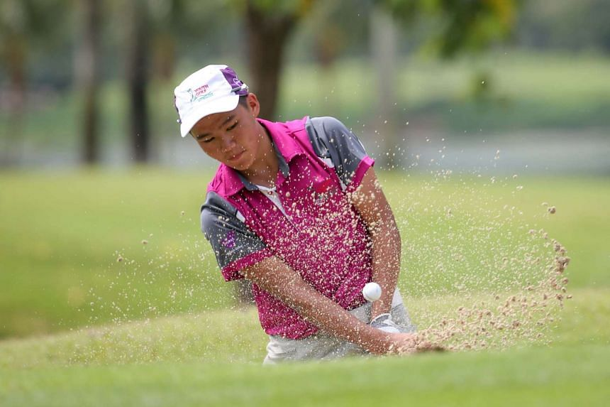 Hai SIng Catholic School's Cheang Kai Siong was one of 56 junior golfers who took part in the first leg of the 2017 Community Youth Golf League on June 12.