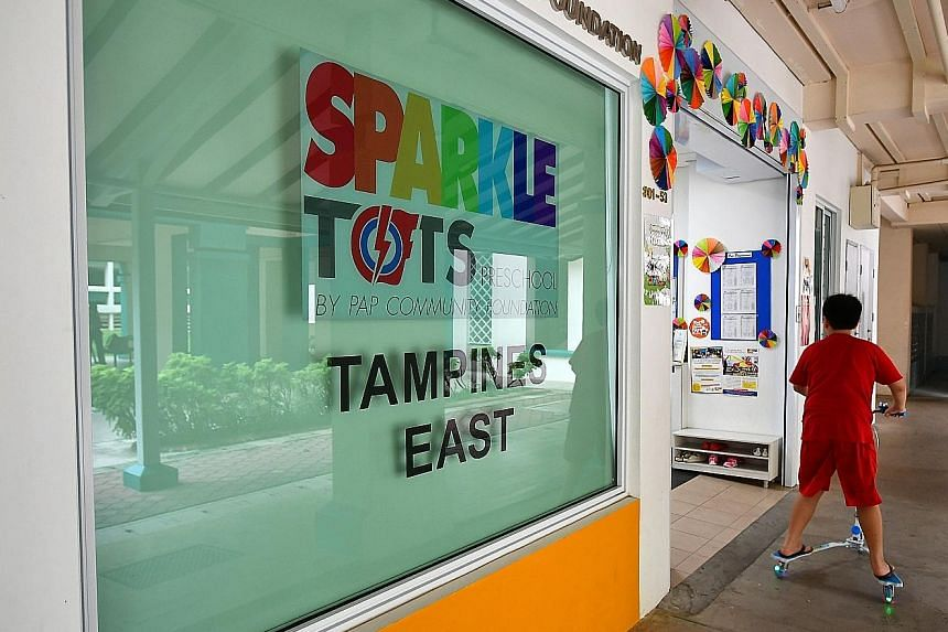 The contract infant care assistant detained under the Internal Security Act worked at the PCF Sparkletots Preschool at Block 385, Tampines Street 32.