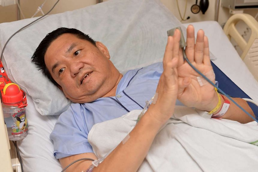 Mr Gui Zhiyuan, 59, injured his spine after being thrown from his seat when the tour bus he was on hit two others in a chain collision along Malaysia's North-South Expressway.