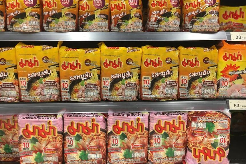 A survey in 2013 showed that Thais gobble 43 packs of instant noodles a year on average. Mama instant noodles is the leading brand, capturing more than 50 per cent of the market.