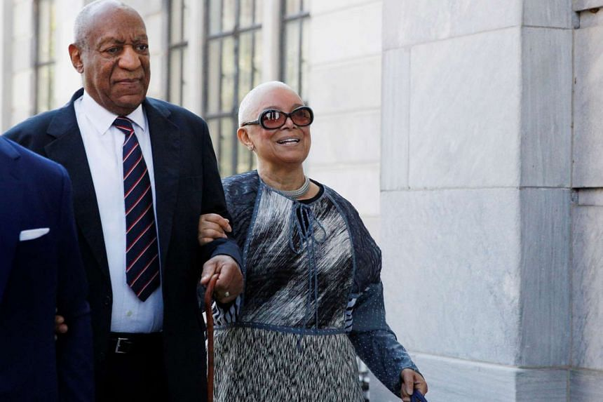 Bill Cosby arrives with his wife Camille at the Montgomery County Courthouse in Norristown, Pennsylvania on June 12, 2017.