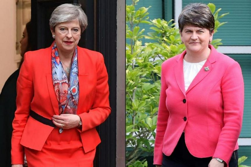 DUP leader Arlene Foster (right) and Prime Minister Theresa May's Conservatives discussing on supporting the British leader's minority government.