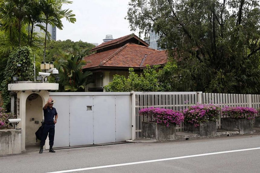 The home of late former prime minister Lee Kuan Yew at 38, Oxley Road.