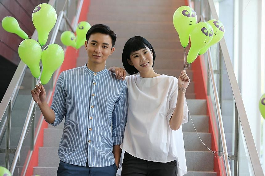 Local actor Aloysius Pang and actress Carrie Wong star in the upcoming Channel 8 drama, My Friends From Afar.