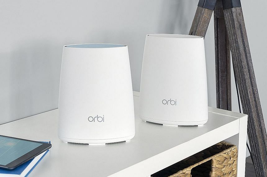 The Netgear Orbi, which comes as a pair (a router and a satellite), has a dedicated Wi-Fi band between its two units, a feature that helps it achieve better performance and coverage.