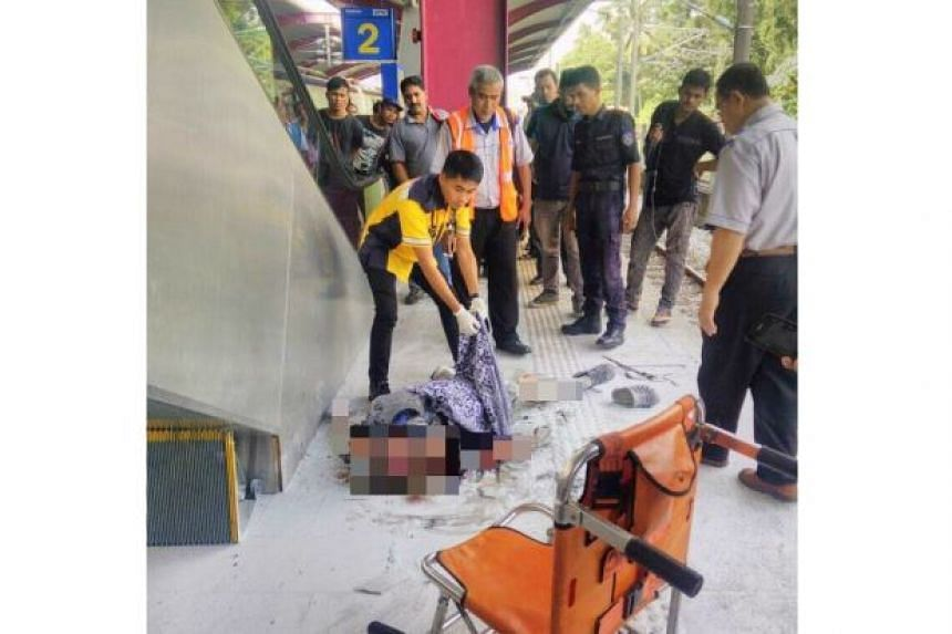 A man was seriously injured after receiving an electric shock at a KTM station in KL on June 13, 2017.