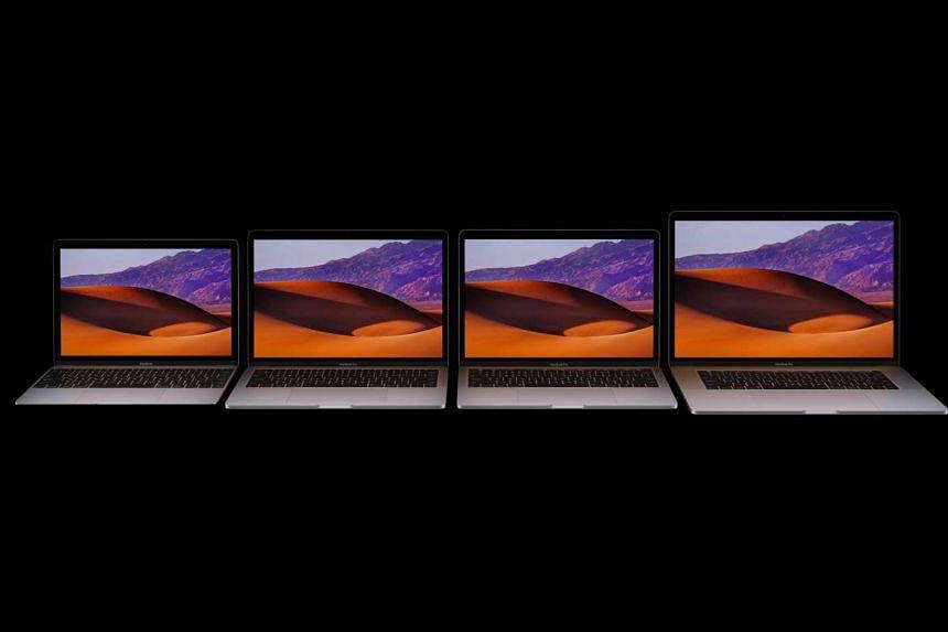 Apple's line-up of MacBook and MacBook Pro laptops.