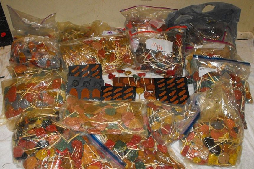 An estimated 270kg of meth lollipops with an approximate street value of close to US$1 million found in Texas.
