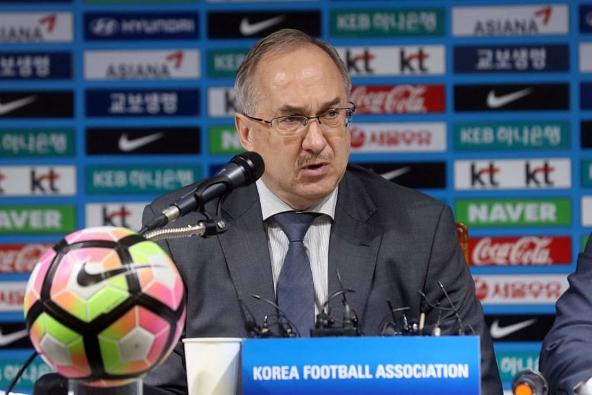 South Korea axed Uli Stielike after a shocking defeat that left their World Cup qualification hanging in the balance.