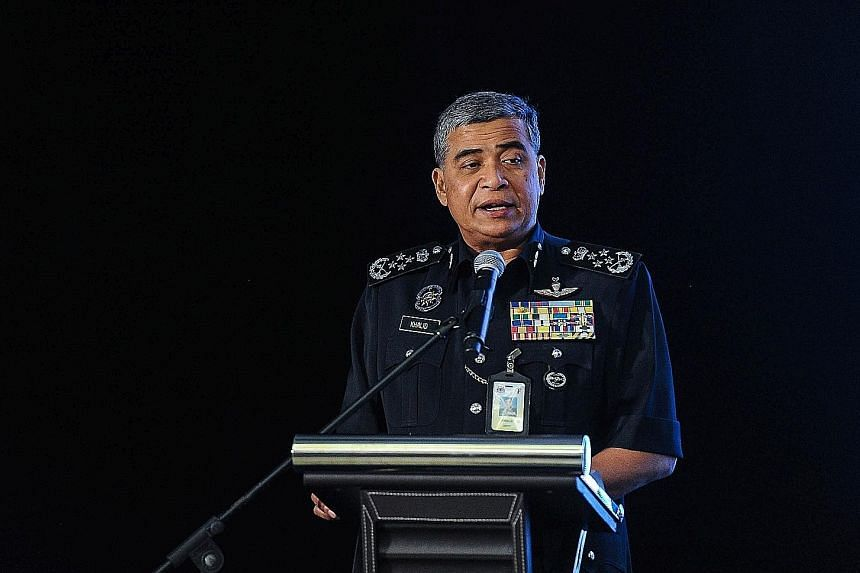 Malaysia's police chief Khalid Abu Bakar denies knowledge of Gopinathan's alleged illegal activities.