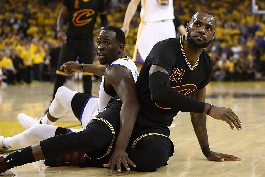 LeBron James (right) will have to respond to the likelihood of the Warriors dominating the NBA in the near future.