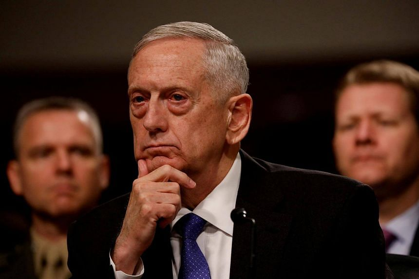 US Defence Secretary James Mattis testifies before the Senate Armed Services Committee on Capitol Hill in Washington, DC, on June 13, 2017.