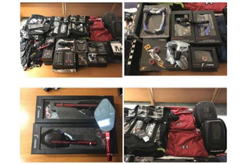 A total of about 440 pieces of trademark-infringing goods were seized.