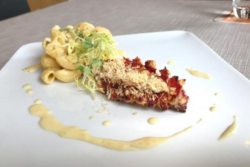The Smoked Lobster Tail is a luxe version of macaroni and cheese.