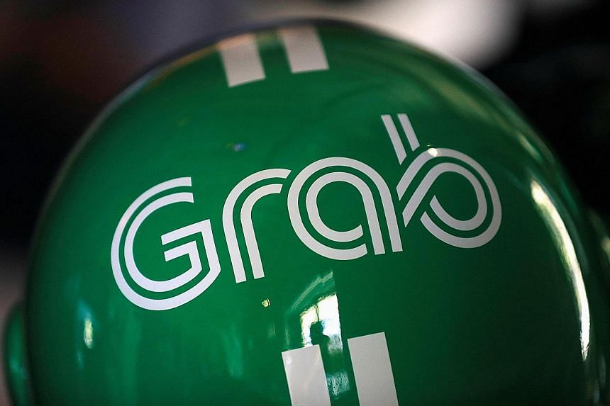 Grab's signature green helmet. The Singapore-based ride-hailing start-up already has a tie-up with Mr Jack Ma's Alibaba Group payments affiliate Ant Financial, under which riders can use Alipay through the Grab app.