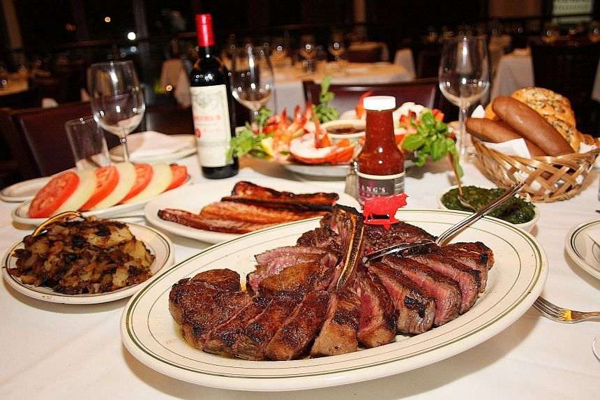 The porterhouse steak at Wolfgang's Steakhouse is its bestseller.