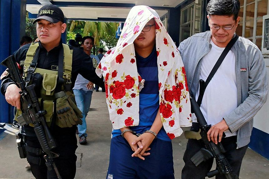 Mohammad Noaim Maute was nabbed at a checkpoint in Cagayan de Oro, 66km from Marawi, yesterday.