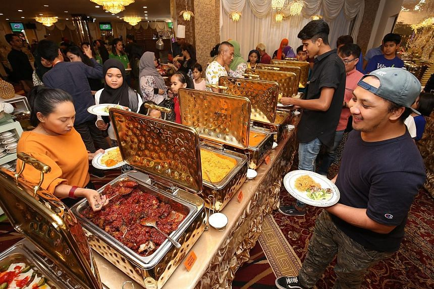 Beneficiaries of the Tabung Amal Aidilfitri (TAA) Trust Fund, donors to the Milo Ramadan campaign and guests broke fast yesterday at Tanjong Katong Complex. Organised by Milo Singapore, the iftar was also attended by Dr Mohamad Maliki Osman, Senior M