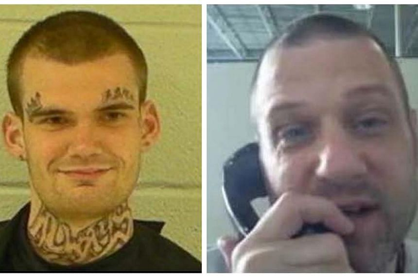 Two escaped inmates, Ricky Dubose (left) and Donnie Rowe (right) after their escape earlier this week from Putnam County.