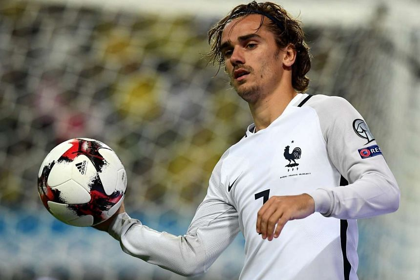 France forward Antoine Griezmann during the World Cup qualifier between Sweden and France in Solna, on June 9, 2017, which the hosts won 2-1.