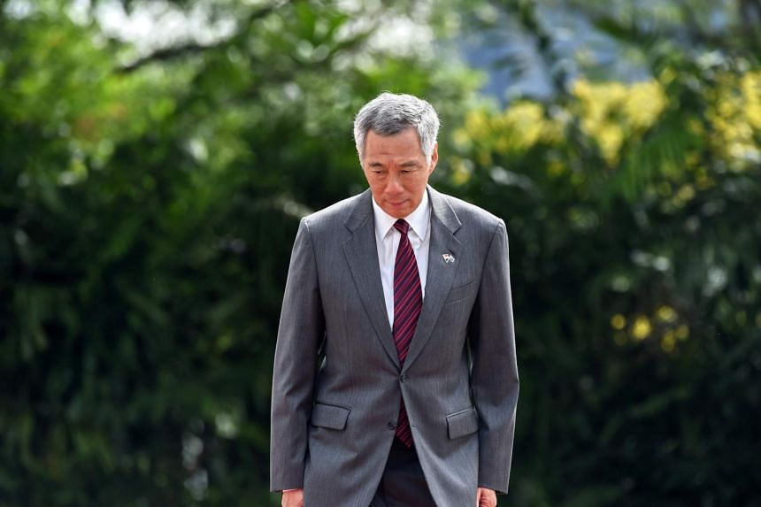Prime Minister Lee Hsien Loong at an event at the Istana presidential palace in Singapore, on June 2, 2017.