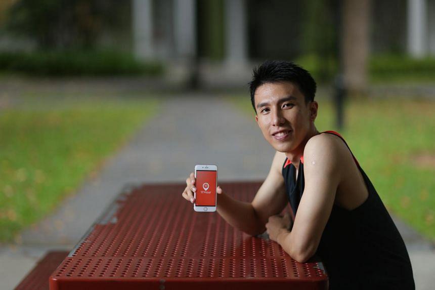 Mr Tan Jun Yuan, 31, founder of mobile app 11th Hour.