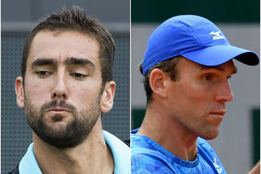 Croatian duo Marin Cilic (left) and Ivo Karlovic are set to face each other in the semi-final clash at the Den Bosch Open after pulling off convincing victories at the Dutch grass court event.