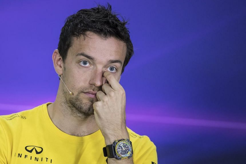 British Formula One driver Jolyon Palmer during a press conference at the Gilles Villeneuve circuit in Montreal, Canada on June 8, 2017.