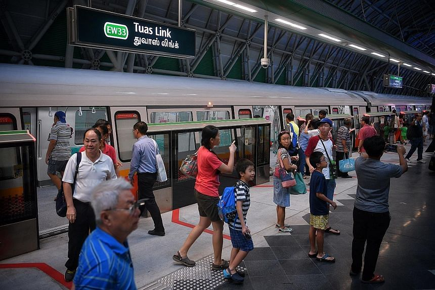 Tuas Link Station is one of the four MRT stations on the new Tuas West Extension which will be launched tomorrow.