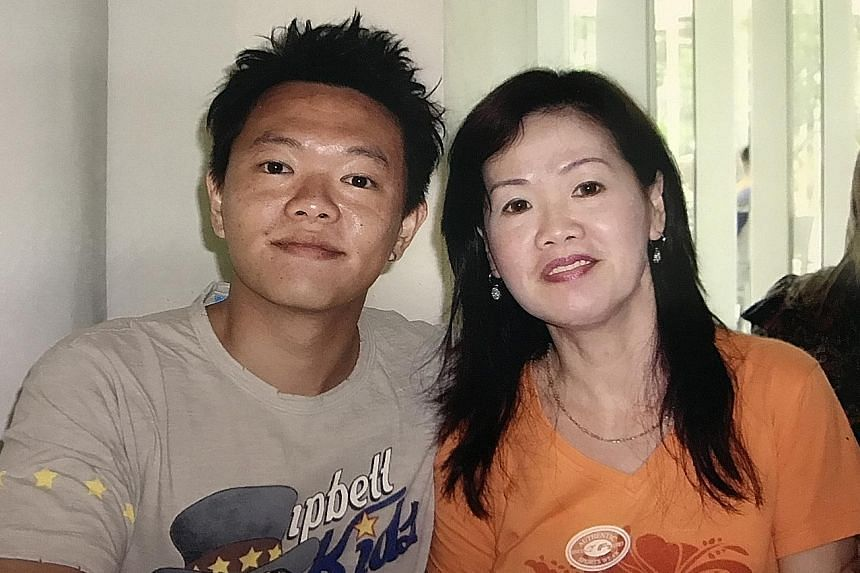 Some mourners who turned up at Mr Koh Ming Hao's wake were strangers who knew about his struggle through social media. From left: Mr Koh with his mother Eileen Tan; and with his wife Daphnie Chong in January; and a recent photo of him on Instagram.