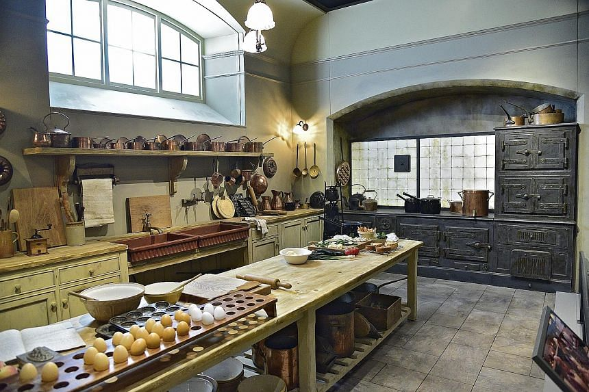 The kitchen and dining room are some of Downton Abbey's spaces that have been duplicated to a T.