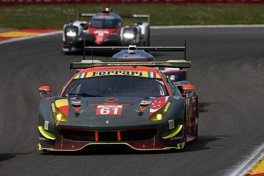 Clearwater Racing team in action at the Spa-Francorchamps circuit, where they finished second last month. Le Mans will be the third stop in the nine-leg World Endurance Championship series.