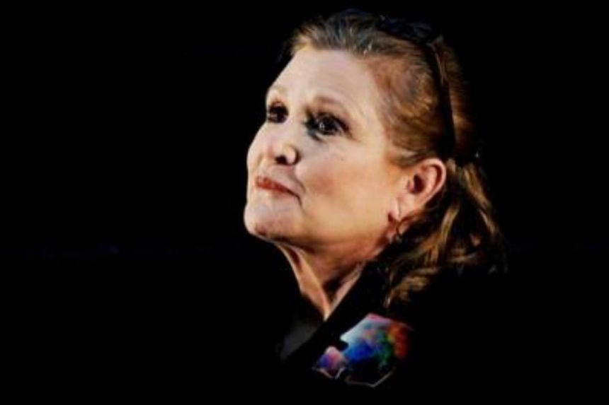 A file picture dated June 23, 2013, shows US actress Carrie Fisher at the Supanova Pop Culture Expo at Homebush in Sydney, Australia.