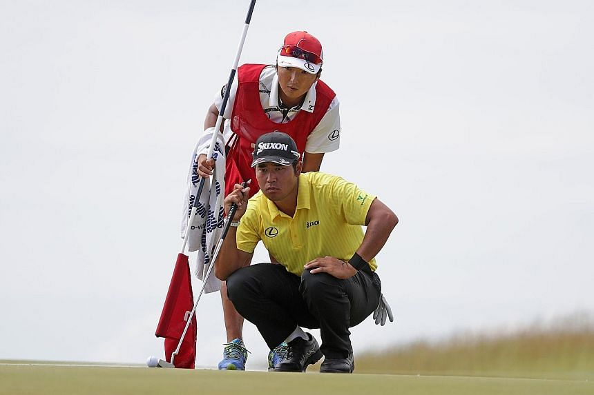 While there is a four-way tie for the lead at the halfway mark of the US Open, Japan's Hideki Matsuyama of Japan is just two strokes behind, with the world's top three golfers failing to make the cut at Erin Hills.