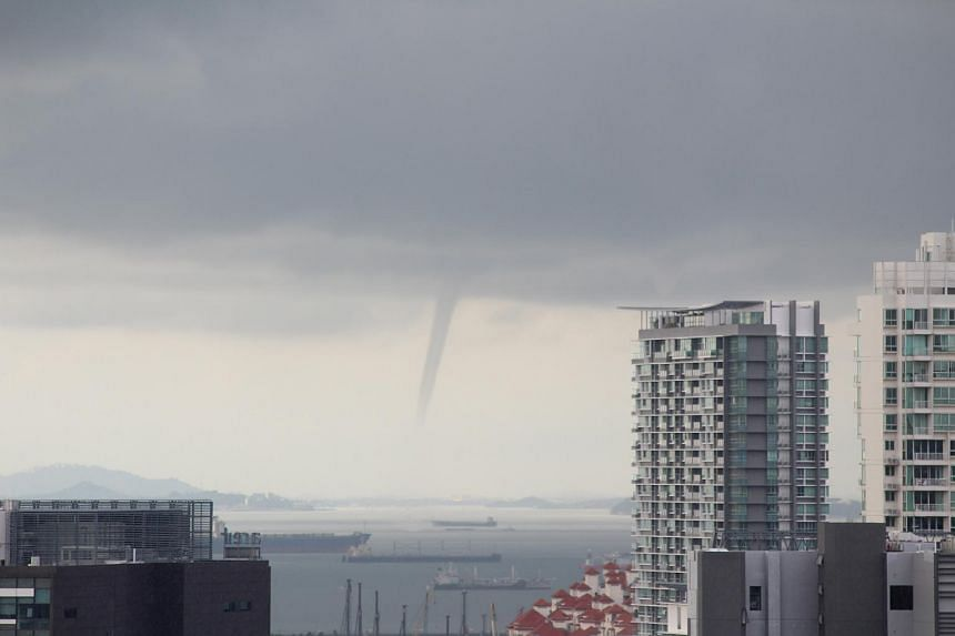 A large waterspout off Singapore shores taken from Boon Keng on June 18, 2017.