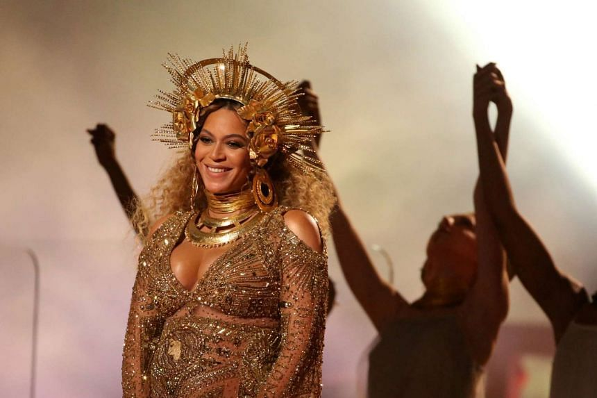 Beyonce performs at the 59th Annual Grammy Awards in Los Angeles, California, U.S. on February 12, 2017. PHOTO: REUTERS