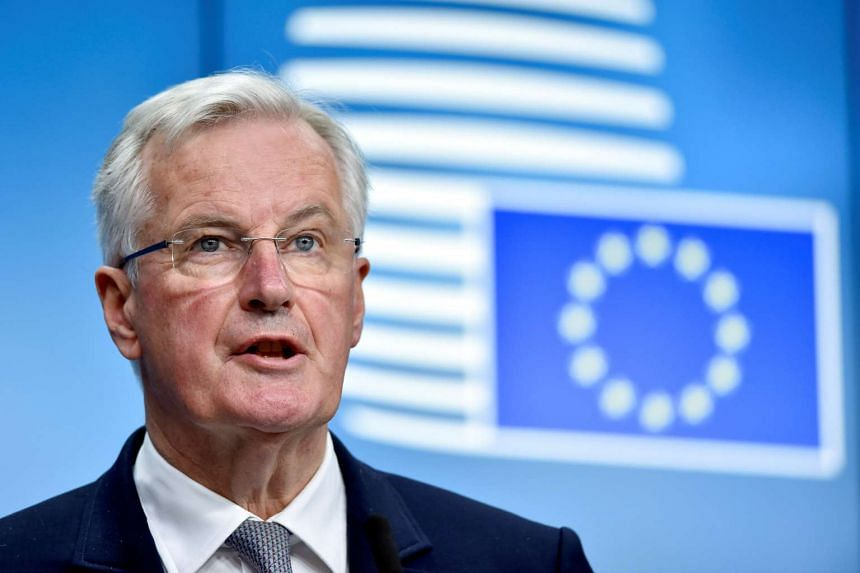 European Union Chief Negotiator for Brexit Michel Barnier looks on during a news conference after a European General Affairs Ministers meeting in Brussels, Belgium on May 22, 2017.