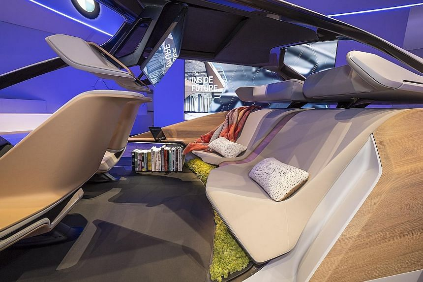 BMW's show car at the annual Consumer Electronics Show in Las Vegas.