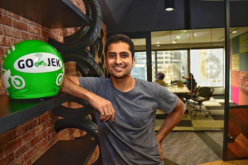 """Go-Jek vice-president of data science Misrab Faizullah- Khan said while the Indonesian firm remains focused on its home market, it has """"not ruled out a regional game plan for the future"""". The firm has 20 employees at its Singapore office at AXA Tower"""