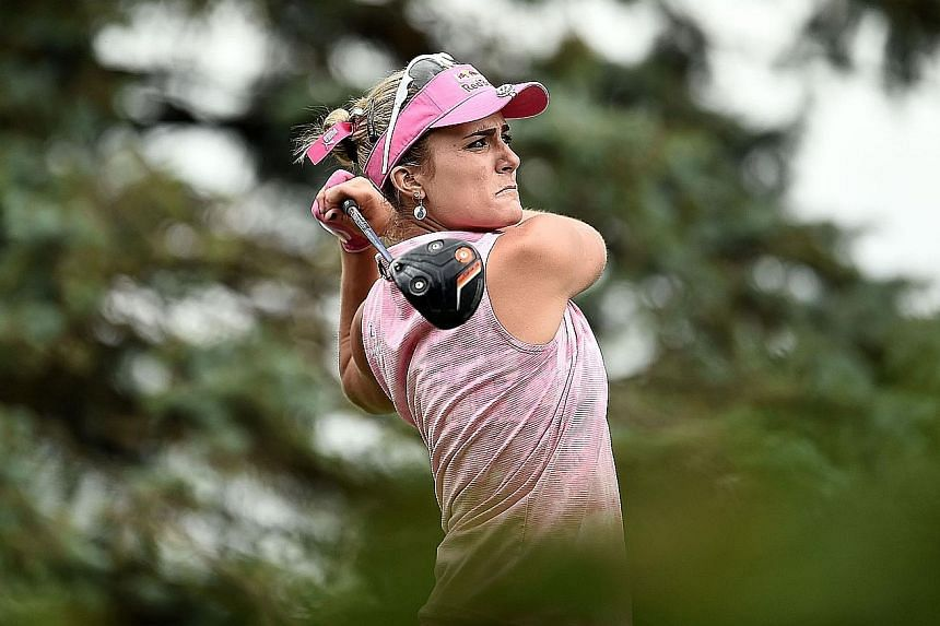 American Lexi Thompson takes a one-shot lead into the final round of the Meijer Classic. She will be hoping that she will not falter like she did at last week's Manulife LPGA Classic.