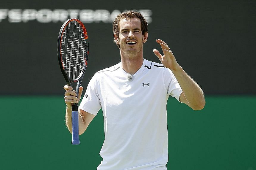Andy Murray (above) will be aiming to win the Aegon Championships at the Queen's Club for a third successive year. He faces British No. 4 Aljax Bedene in the round of 32 today.